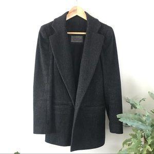 All Saints Wool Single Breasted Coat